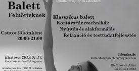 Kortárs balett tánctanfolyam indult felnőtteknek