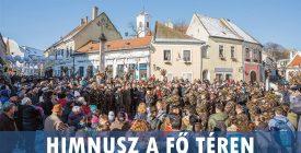 Himnusz a Fő téren a Magyar Kultúra Napján