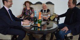 Városházi köszöntő Aknay János 70. születésnapján
