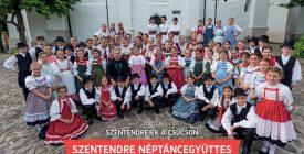 A molinón: a Szentendre Táncegyüttes  gyermekcsoportja