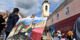 Fő téri festés a Festészet napján