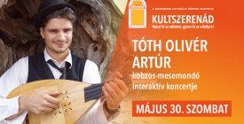 Tóth Olivér Artúr kobzos-mesemondó gyereknapi interaktív koncertje // #kultszerenád